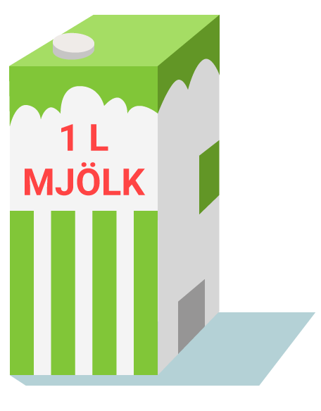 1 liter mjölk