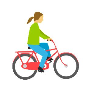 Cyklist-röd