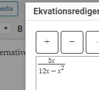 Ekvationsedditor