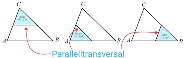 Parallelltransversal och topptrianglar