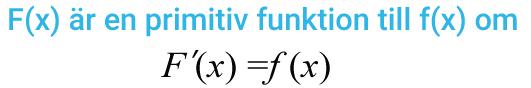 Definition av en primitiv funktion