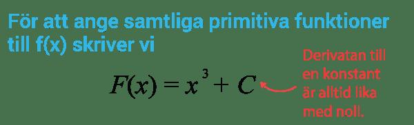 Konstanten C och primitiva funktioner