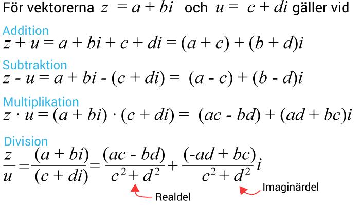 Räkneregler för komplexa tal