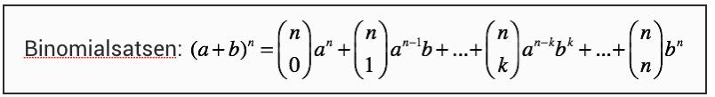 Binomialsatsen