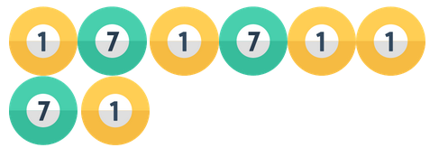 biljardbollar med siffror