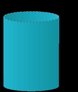 Mantelyta för en cylinder