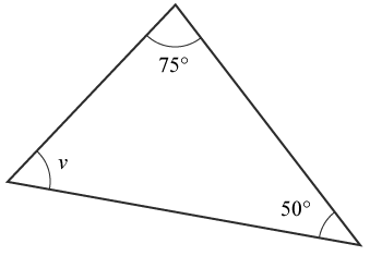 Exempel 1 vinkelsumma triangel