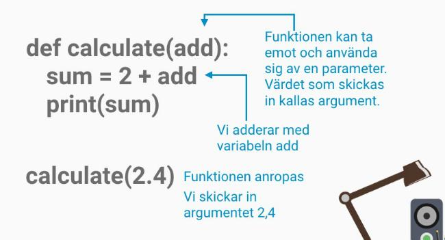 Funktioner med parameter