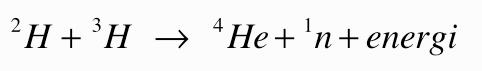 Fusion och fission formel