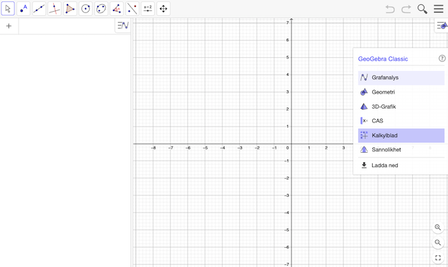 Icke linjär regression steg 1