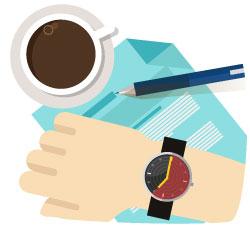Kaffe och klocka