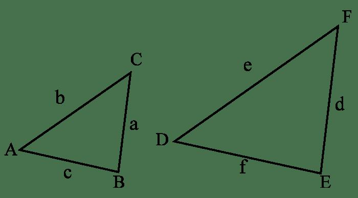 Två likformiga trianglar