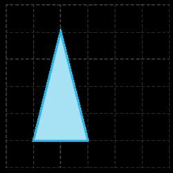 beräkna area för triangel i rutnät