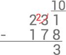 subtraktion-uppstallning