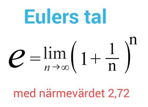 Talet e - Eulers tal